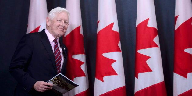 Bob Rae releases a report on the humanitarian and security crisis in Myanmar at a press conference in...