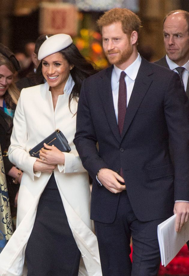 Meghan Markle and Prince Harry attend the 2018 Commonwealth Day service at Westminster Abbey.