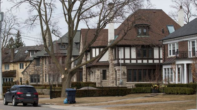 Homes in Forest Hill, a Toronto wealthy