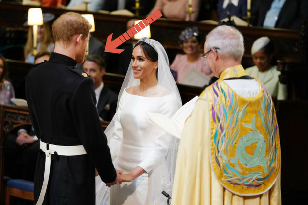 Prince Harry and Meghan Markle during their wedding service on May
