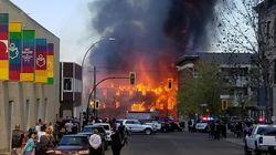 Massive Fire 'Devours' Downtown Landmarks In Brandon,