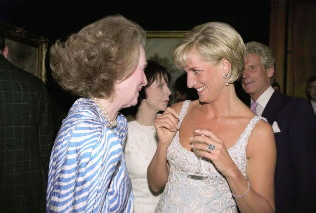 Diana, Princess Of Wales, at a private viewing and reception at Christies in