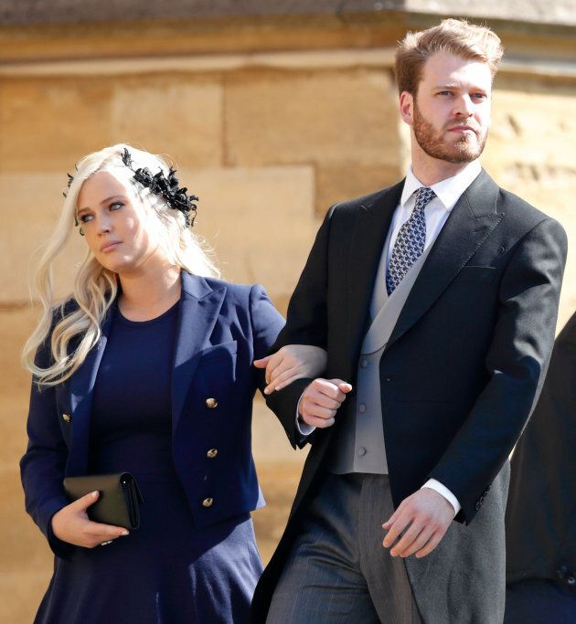 Lady Eliza Spencer & Louis Spencer, Viscount Althorp attend the wedding of Prince Harry and Meghan