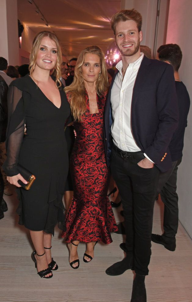 Lady Kitty Spencer, mother Victoria Aitken and brother Louis Spencer, Viscount Althorp, attend Tatler's...