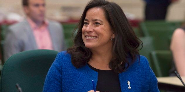 Justice Minister Jody Wilson-Raybould waits to appear before the Standing Committee on Justice and Human...