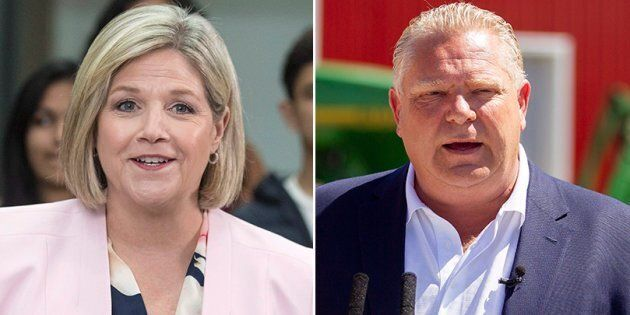 Ontario NDP Leader Andrea Horwath and Ontario PC Leader Doug Ford are shown in a composite