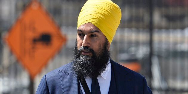 NDP Leader Jagmeet Singh arrives to Parliament Hill in Ottawa on May 8,