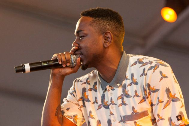 Kendrick Lamar performs during the 2013 Hangout Music Festival on May 18, 2013 in Gulf Shores,