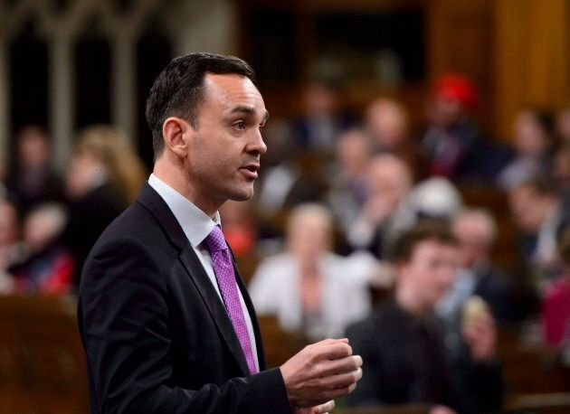 Conservative MP Blake Richards stands during question period in the House of Commons on Parliament Hill...