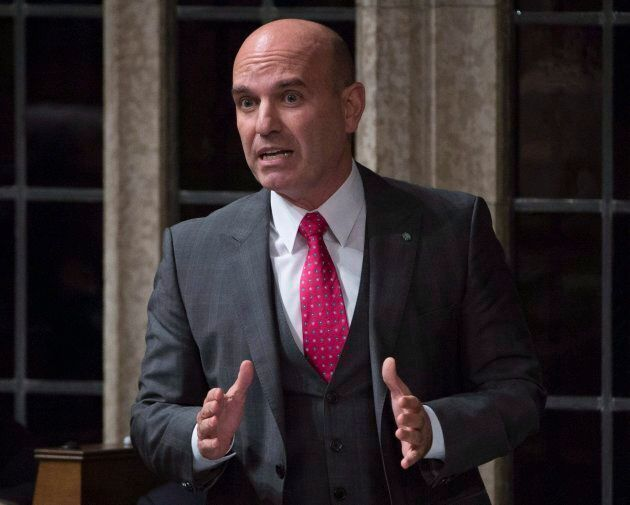 NDP MP Nathan Cullen rises in the House of Commons in Ottawa on Oct. 25,