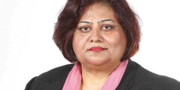 Tasleem Riaz, an Ontario NDP candidate in Scarborough-Agincourt, is shown in a Facebook