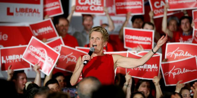 Ontario Liberal leader and Premier Kathleen Wynne speaks during a campaign rally in Ottawa, May 9,