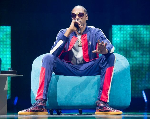 Rapper Snoop Dogg speaks at the C2 business conference in Montreal on