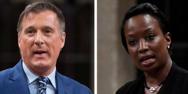 Conservative MP Maxime Bernier accuses Liberal MP Celina Caesar-Chavannes of focusing too much on