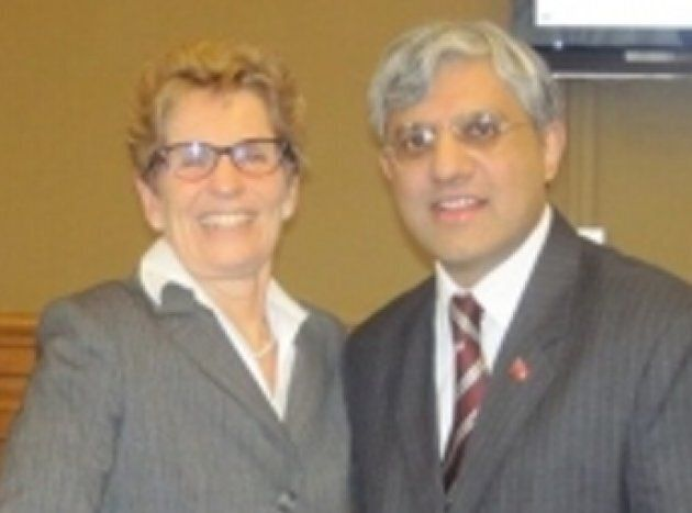 Ontario Liberal candidate Shafiq Qaadri is pictured with party leader Kathleen