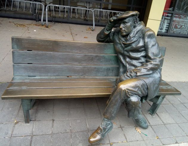 This bronze statue of Gould, by Ruth Abernethy, sits outside the Glenn Gould studios in downtown