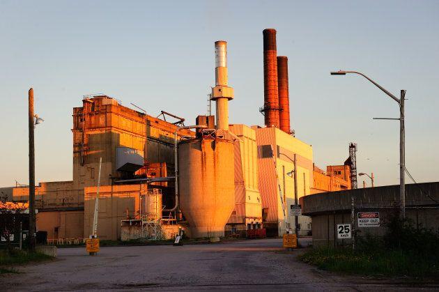 A paper mill in Kapuskasing, Ontario, on July 3, 2017.
