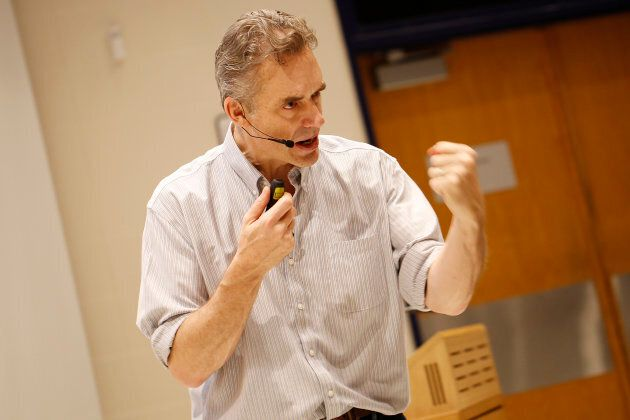 Jordan Peterson during a lecture at the University of Toronto on Jan. 10,