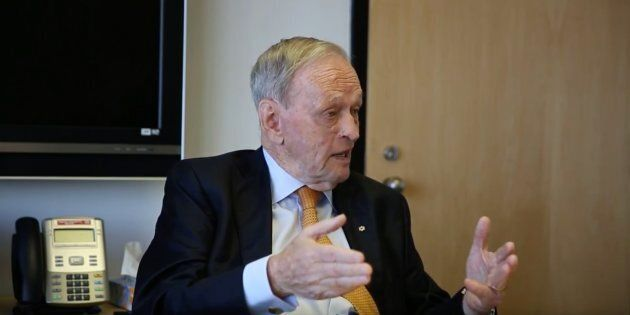 Former prime minister Jean Chretien speaks to HuffPost Quebec in Montreal on May 30,