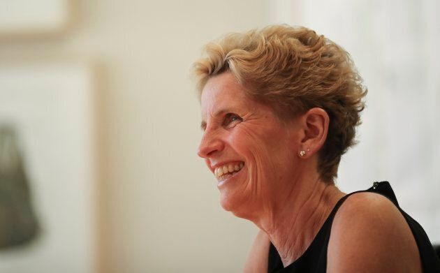 Premier Kathleen Wynne at the Toronto Star's office to speak to the Star's editorial board.
