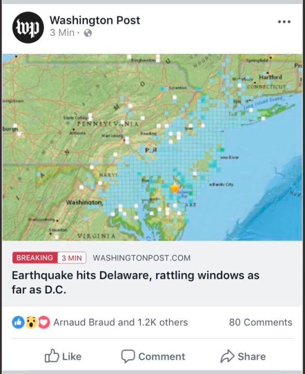This image provided by Facebook shows a new feature Facebook is testing