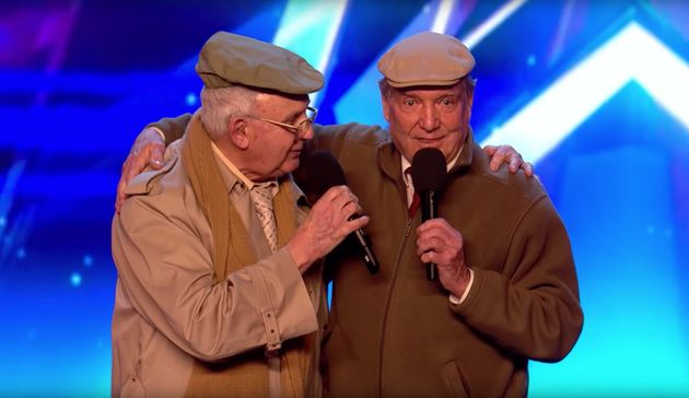 Henry (left) and Malcolm at their BGT