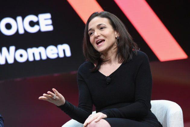 Facebook COO Sheryl Sandberg speaks onstage .