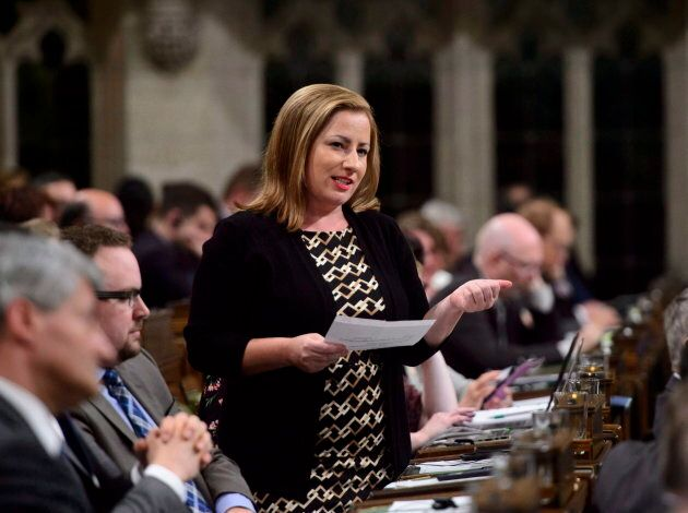 Conservative MP Shannon Stubbs stands during question period in the House of Commons on Parliament Hill...