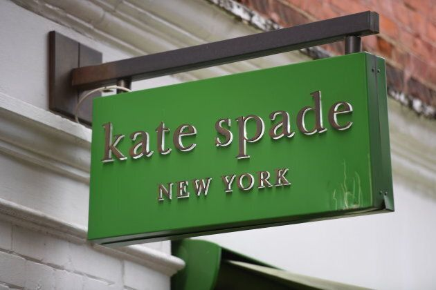 A sign for a Kate Spade shop in Covent Garden,