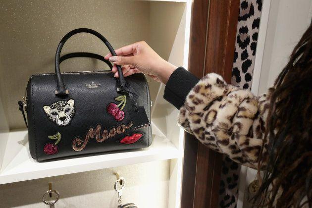 A Kate Spade handbag on diplay at the Leopard Leopard Leopard Pop-Up Shop hosted by Kate Spade New York...
