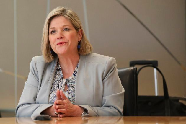 Ontario NDP Leader Andrea Horwath at the Toronto Star office on May 22, 2018.