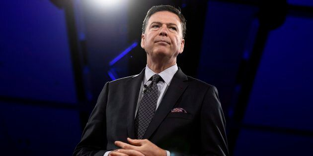 Former FBI director James Comey speaks during the Canada 2020 Conference in Ottawa on June 5,