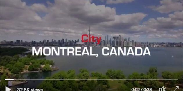 This Ferrari ad shows the Toronto skyline promoting the Canadian Grand Prix, a decades-old sporting event...