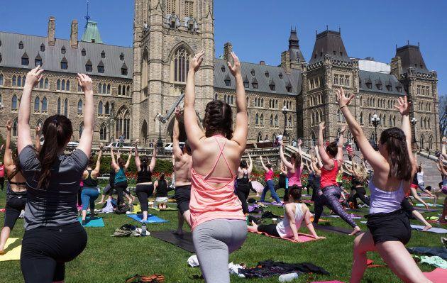 Yoga on Parliament