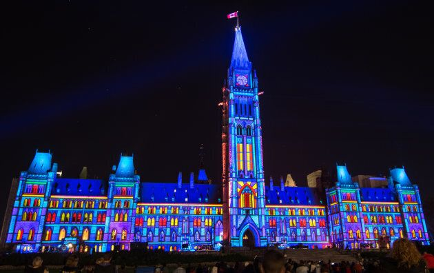 Northern Lights Show at Parliament