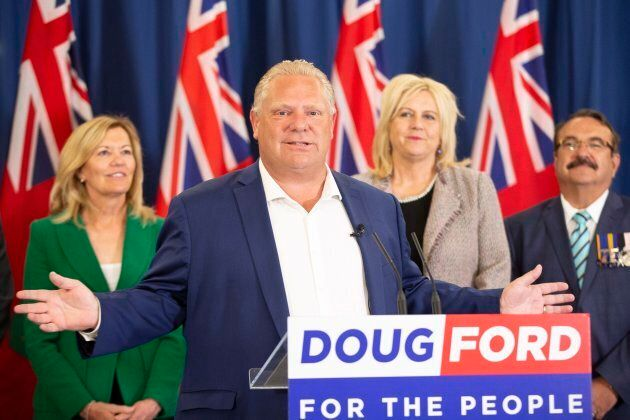 Ontario Progressive Conservative leader Doug Ford speaks during a press conference in London, Ont. on...