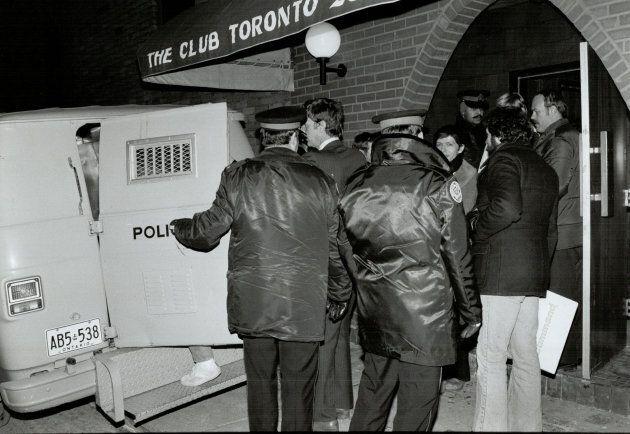 Bathhouse raids in Toronto on Feb 5, 1981.