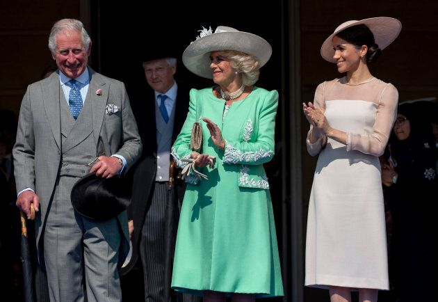 Prince Charles, Camilla, Duchess of Cornwall, and Meghan Markle during The Prince of Wales' 70th Birthday...