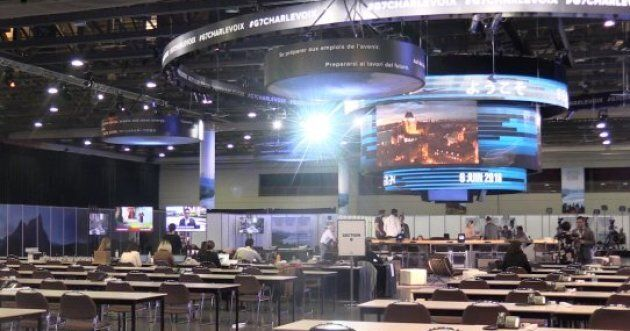 The International Media Center in Quebec City will be home to about 2,000 journalists during the