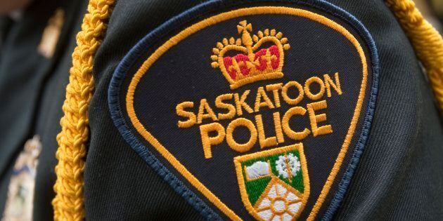 Saskatoon Police badge is seen during a police memorial parade in Ottawa Sept. 26,