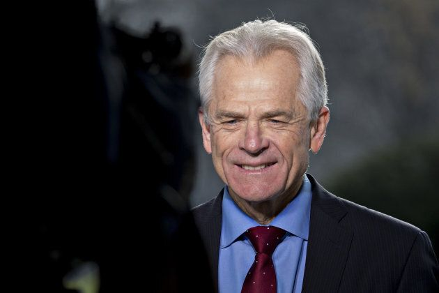 Peter Navarro, trade policy assistant to President Trump, outside the White House in Washington, D.C.,...