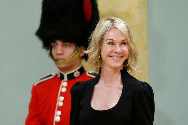 U.S. Ambassador to Canada Kelly Craft is introduced before presenting her credentials during a ceremony...