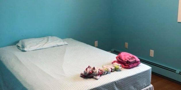 Amanda Mitchell posted three pictures on Facebook of her nine-year-old daughter's room after she stripped...