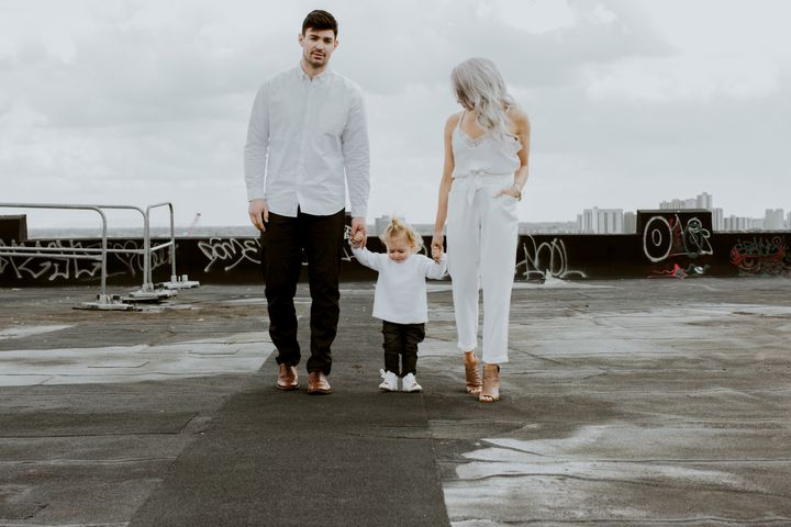 Montreal Canadiens goaltender Carey Price with daughter Liv, 2, and his wife Angela.