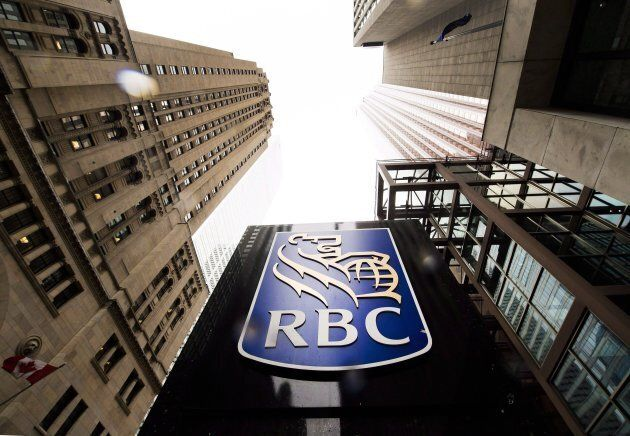 A Royal Bank of Canada sign is shown in the financial district in Toronto on August 22,