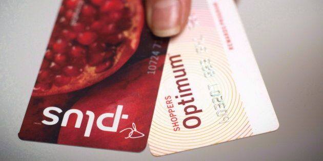A Loblaws PC Plus and a Shoppers Drug Mart Optimum card are shown together. The two programs have been...