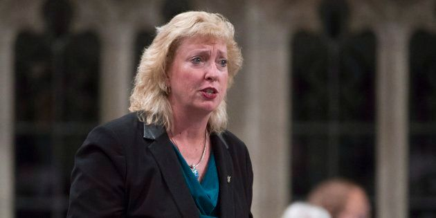 Conservative MP Marilyn Gladu rises in the House of Commons on May 6,