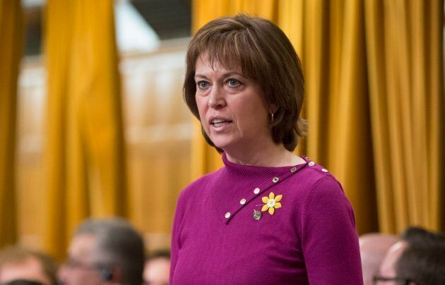 Liberal Pam Damoff rises during Question Period in the House of Commons on April 13, 2016.