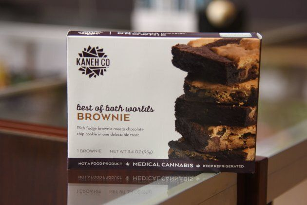 Brownies with THC, the psychoactive ingredient in marijuana, are for sale on the first day of legal recreation...