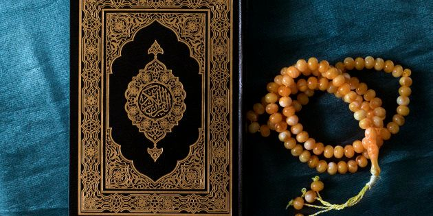 Quran and prayer beads.